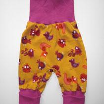 77 bequeme Babyhose Größe 50-92 aus Jersey mit krempelbaren Bündchen oben und unten .... Preis: 14,00 Euro