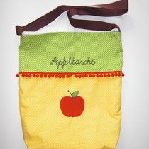 19 Handtasche / Beutel mit ca. 8cm breitem Boden