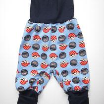 5 Baby-/ Kleinkindhose (aus Jersey und dehnbarer Bündchenware. Wächst quasi mit, weil man die Bündchen umkrempeln kann)....Preis: 16,00 Euro