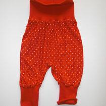 1 Baby-/ Kleinkindhose (aus Jersey und dehnbarer Bündchenware. Wächst quasi mit, weil man die Bündchen umkrempeln kann)....Preis: 16,00 Euro