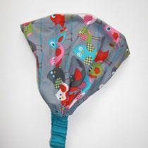 143 praktisches Haartuch aus Baumwolle, mit dehnbahren Gummi, von Baby- bis Erwachsenegröße....kann bei Bedarf auch zum Haarband zusammengerafft werden.... Preis: 6,50 Euro