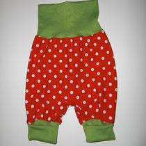 12 Baby-/ Kleinkindhose (aus Jersey und dehnbarer Bündchenware. Wächst quasi mit, weil man die Bündchen umkrempeln kann)....Preis: 16,00 Euro
