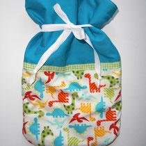 43 Wärmflaschenbezug für kleine Kinderwärmflaschen (innen mit Fleece)