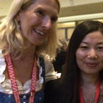 Frau Palfinger und Hongge Zhang