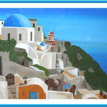 Griechenland mit Acryl