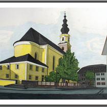 Thalgauer Kirche mit Acryl