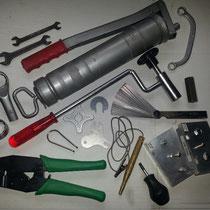 Typische Werkzeuge für die Fahrzeuge von gestern