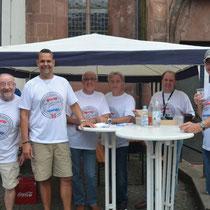 Die Organisatoren und Helfer des 1. Karmann-Ghia-Treffens in Kaiserslautern am 17.08.2013
