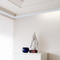 Atmosphärisch reduziertes Wohnzimmer, das zu begeistern weiß!
