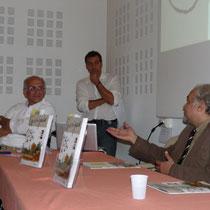 Le directeur du Livre et de la Lecture du GARD , Mr CAPUTO est venu apporter son soutien (içi à coté de Joel ALESSANDRA)