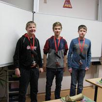 Die Drittpazierten Sebastian, Colin und Paul- wir gratulieren allen!
