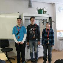 Philipp, Hannes und Kevin - Schulsieger im Planspiel Börse 2013