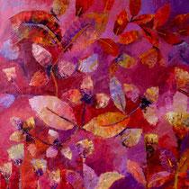 KNIGHT ROSES. Öl auf Leinwand 80x80 cm. Copyright Joan Louis 2016.