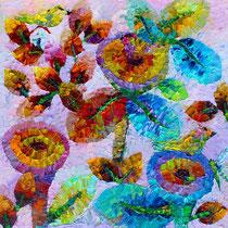 CINDERELLA IN PARADISE, Oleo en lienzo 80x80 cm. Joan Louis Copyright 2016