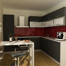 Кухня ламинат