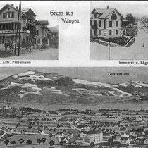Wangen vor rund 100 Jahre