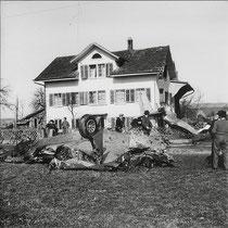 Wangen Fliegerdenkmal 1957
