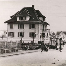 Bahnübergang Siebnen-Wangen 1950