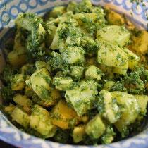 Alles mit etwas Olivenöl, Salz und Pfeffer durchmischen und abschmecken.