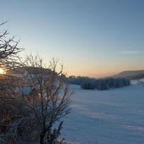 Landhaus Wildfeuer: Panoramablick im Winter