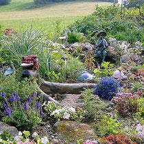 Landhaus Wildfeuer: Gartenteich