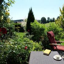 """Blick von der Terrasse der Ferienwohnung """"Lusen"""""""