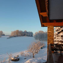 Landhaus Wildfeuer: Winter-Ausblick