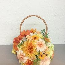 秋色ダリアのbag ブーケ  ¥8,640