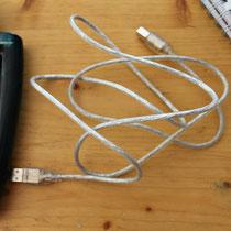USB-Kabel zum Übertragen auf den Computer