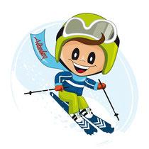 Max als Alpin Skifahrer