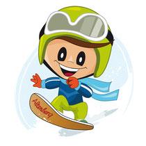 Max als Snowboarder