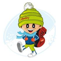 Max als Winterwanderer