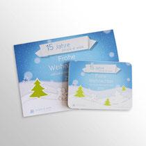 Weihnachtskarte & Geschenkdose