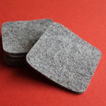 Untersetzer quadratisch (Farbe: graumeliert)