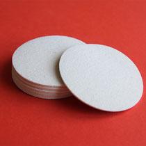 Untersetzer rund (Farbe: weiß)