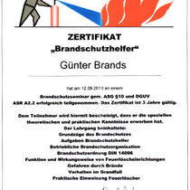 "Zertifikat ""Brandschutzhelfer"" | Marien-Apotheke Reken"