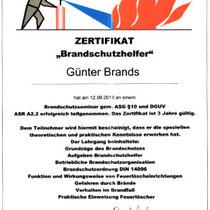 "Zertifikat ""Brandschutzhelfer""   Marien-Apotheke Reken"