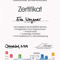 "Zertifikat ""BIODERMA""   Marien-Apotheke Reken"