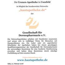 """Zertifikat """"Hautapotheke.de""""   Marien-Apotheke Reken"""