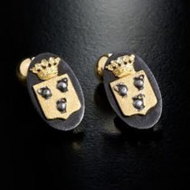 2/14  Tre strati per questi gemelli in ferro con cesello in oro .  Ovali Imprimatur:Tree layers: gold iron and on top gold chiseled.