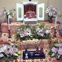 ¥10000  32×21x14 個人宅ペット祭壇花