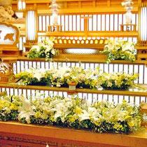 ¥50000 葬儀会場祭壇花