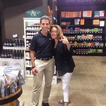 Gary Fisch of Gary's Wine and Marketplace with Karen Schloss