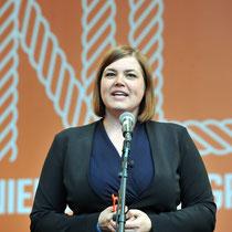 Katharina Fegebank, Senatorin für Wissenschaft, Forschung und Gleichstellung im Senat Scholz, Hamburg Messe.