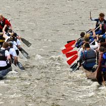 Hafengeburtstag Hamburg, Drachenbootrennen,  Hamburg Messe.