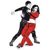 Couple danseur latino vecto 01