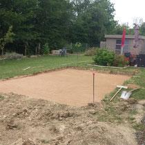 CAZORLA TP :  décapage terrain et aménagement d'une plateforme pour travaux de terrassement pour particuliers