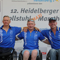 Unser Erfolgstrio beim Heidelberger Rollstuhlmarathon