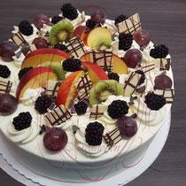 Früchte Mix Sahne Torte