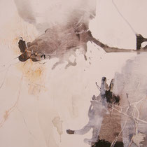 """Portrait"", 70 x 90, Tusche, Pigment, Leinwand"